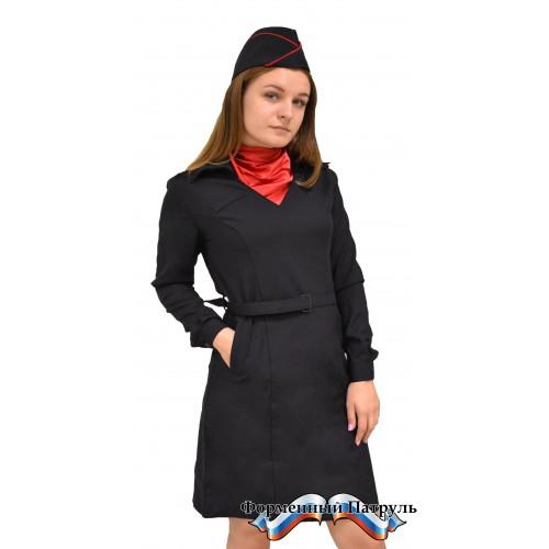 Платье Полиция с длинным рукавом (габардин)