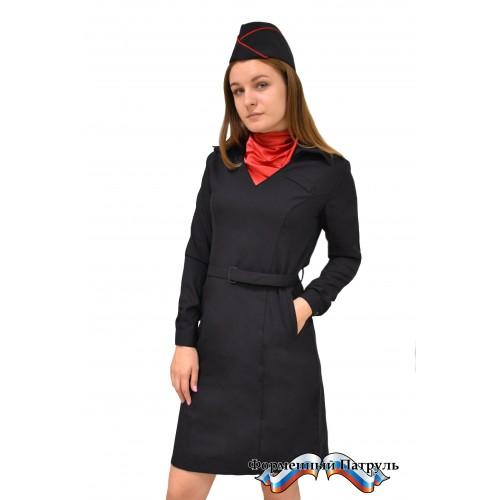 Платье Полиция с длинным рукавом (ШК/70)