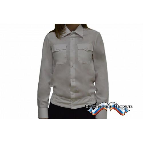 Рубашка МВД (белая с длинным рукавом).