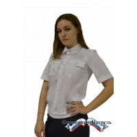 Рубашка МВД (белая с коротким рукавом).