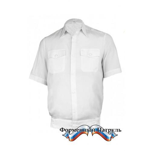 Рубашка МВД белая с коротким рукавом
