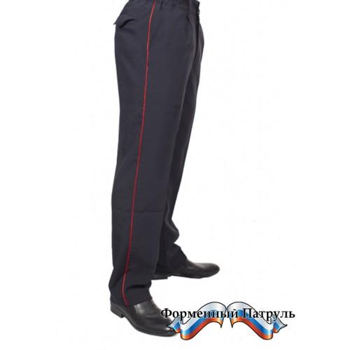 Брюки ДПС (ткань габардин, цвет черника)