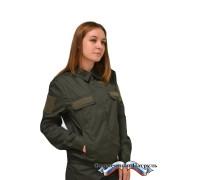 Куртка МО женская (рип-стоп, зелёная)