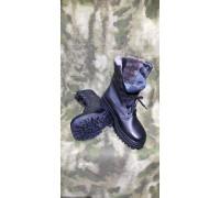 """Ботинки мужские """"Охрана Зима"""" (модель 502-1, нат. мех, чёрные)"""