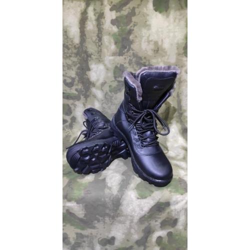 """Ботинки мужские """" Саяны Зима"""" (модель 526, нат. мех, чёрные)"""