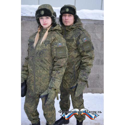 Куртка ВКПО зимняя (бушлат) (Бондированная ткань, цвет пиксель)