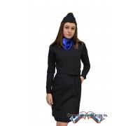 Платье Юстиция с длинным рукавом (габардин)