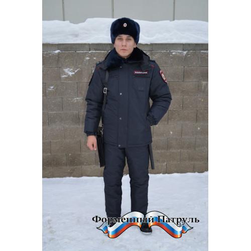 """Куртка Полиция зимняя удлинённая ( ткань рип-стоп на мембране, подкладка """"фольга"""", холофайбер)"""