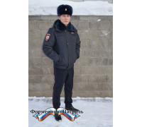 """Куртка Полиция зимняя укороченная ( ткань рип-стоп на мембране, подкладка """"фольга"""", холофайбер)"""