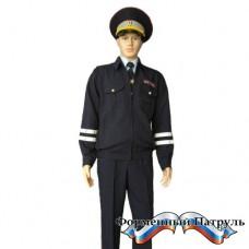 Костюм летний для сотрудников ДПС ГИБДД тёмно-синий (куртка + 2 брюк)