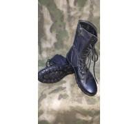 """Ботинки с в/б """"Утка"""" (модель У-16, чёрные, кожа """"Краст"""")"""
