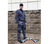 Брюки Росгвардия демисезонные  (цвет синяя точка, мембрана рип-стоп/стежка)
