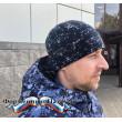 Бушлат зимний РОСГВАРДИЯ синяя точка (рип стоп - мембрана /холофайбер/фольга, воротник-флис)