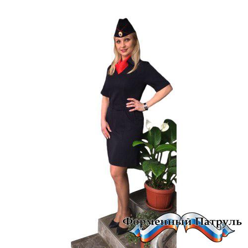 Платье Полиция с коротким рукавом (Габардин)