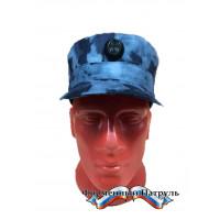 Кепка Росгвардия (цвет синий мох, ткань Peach effect)