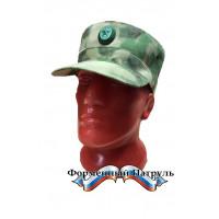 Кепка Росгвардия (цвет зелёный мох, ткань Peach effect)