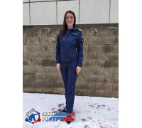 Костюм МО офисный женский НОВОГО ОБРАЗЦА  д/р (ткань рип-стоп 240, подкладка сетка ,цвет синий)
