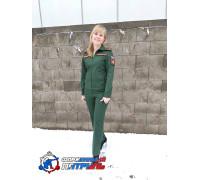 Костюм МО офисный женский НОВОГО ОБРАЗЦА  д/р (ткань рип-стоп 240, подкладка сетка ,цвет зеленый)