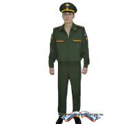 Костюм летний офисный МО с длинным рукавом (рип-стоп 240 г/м2, зелёный)
