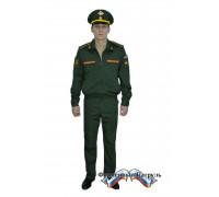 Костюм МО офисный мужской c длинным рукавом (рип-стоп/вискоза с п/э 175г/м2, зеленый)