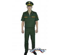 Костюм МО офисный мужской с коротким рукавом (рип-стоп/вискоза с п/э 175г/м2,зеленый)