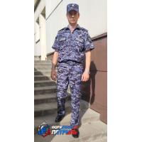 Костюм РОСГВАРДИЯ офисный  к/р (цвет синяя точка, вискоза)