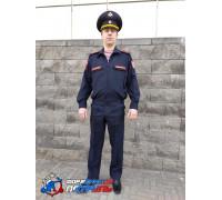 Костюм РОСГВАРДИЯ офисный  д/р (цвет синий, ткань габардин)