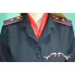 """Платье Полиция """"МОДНИЦА"""" с коротким рукавом (клёш, неуставное, ткань габардин)"""