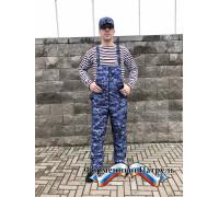 Полукомбинезон РОСГВАРДИЯ синяя точка (рип стоп - мембрана /холофайбер)
