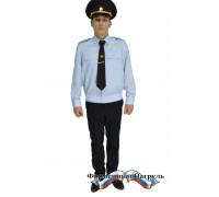Рубашка МВД светло-голубая с длинным рукавом