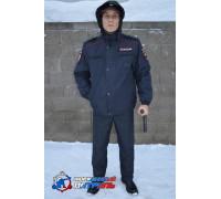 Ветровка Полиция удлиненная (рип-стоп на мембране/полиэстер)